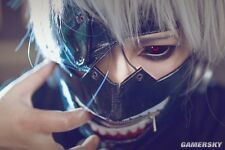 Adjustable Tokyo Ghoul Kaneki Ken Zipper Black Cosplay Masks PU Leather Mask #PF