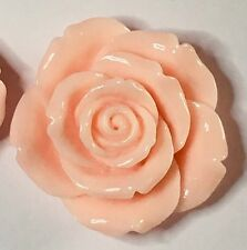 4 x Extra Large Resin Flowers - 42mm - Light Pink - Crafts