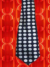 A277✪ original 70er Jahre Kult Retro Krawatte Hippie Punkte schwarz weiß