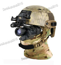 U.S.A  Helmet With Infrared Hd Night-vision Monocular Telescope IR Digital