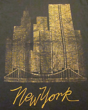 Vintage New York City Skyline T-Shirt (L) Screen Stars World Trade Center