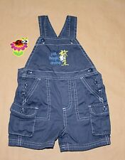 BABY GAP Boys Newborn up to 3 Months Blue Overalls Shortall One-Piece OUTFIT