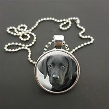"Black Labrador Pendant 18"" (Or Any Size)  Ball Chain Necklace Birthday Gift N72"