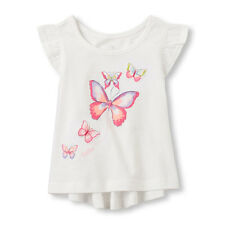 NWT The Children's Place Girl's Ruffle Short Sleeve Butterfly Top 4T Shirt Tee