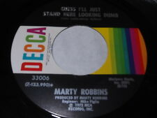 Marty Robbins: Guess I'll Just Stand Here Looking Dumb / This Much A Man 45