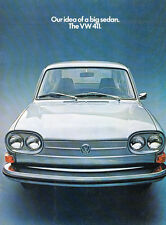 1971 VW Volkswagen 411 18-page Original Car Sales Brochure Catalog