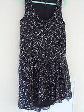 Mango Black/White Dress Size Small worn once