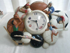 Vintage Home Interior Sports Theme Wall Clock Battery Operated HOMCO Quartz USA
