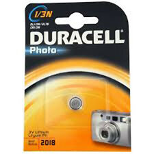 5 PILAS DURACELL (3V) 1/3N - DL1/3N - 2L76 - CR1/3N - 5018LC - CR11108 BATTERY
