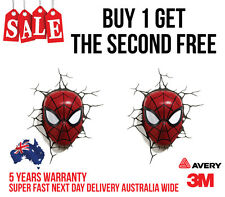 2 x SPIDERMAN 3D  back window CAR, TRUCK WALL OR LAPTOP STICKER DECAL