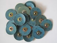 "Lot Of 26  NORTON 2"" SPEED-LOK 120 & 60-Grit SANDING DISCS ROLOC S Type Arbor"