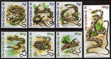 Gibraltar neuf sans charnière 2001 sg960-966 serpents ensemble de 7