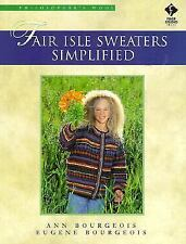 Fair Isle Sweaters Simplified 16 Designs Bourgeois knitting patterns stitches