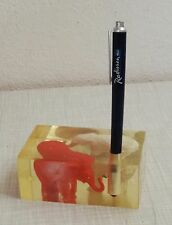 VINTAGE PENNA A SFERA supporto 70er VINTAGE Paperweight 70's