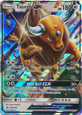 x1 Tauros GX - 100/149 - Ultra Rare Pokemon Sun & Moon Base Set M/NM