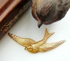 BRASS Sparrow Bird Stamping - Jewelry Ornament Findings (E-25) `