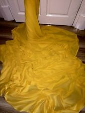 "1 MTR BRIGHT YELLOW CHIFFON FABRIC...45"" WIDE"