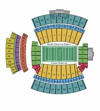 South Carolina Gamecocks Football vs Tennessee Volunteers Tickets 10/29/16...