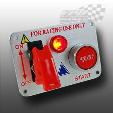 IGNITION ENGINE START PUSH BUTTON WITH TOGGLE SWITCH RACING PANEL