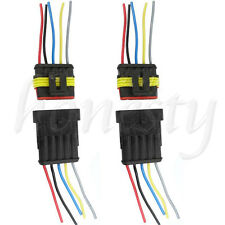 One set  5 Pin Way Waterproof Electrical Car Motorcycle Connector Plug w/ Wire