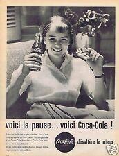 Publicité Advertising 056 1961 Coca Cola voici la pause