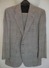 Vintage POLO RALPH LAUREN Glen Plaid SUIT 42 Long 35 Waist MADE IN USA 1980s
