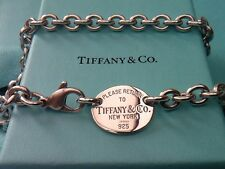Para mujer Tiffany & Co Oval Collar de plata esterlina 100% Genuino Rrp370/L2