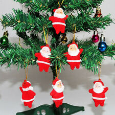 6pcs Red Christmas Tree Ornaments Santa Claus Design Indoor Standing Decoration