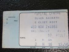 Black Sabbath Quiet Riot ticket stub Capital Centre Nov 2 1983