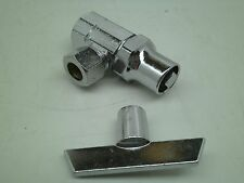 "(3) Tamper Proof Water Shutoff Valve 3/8"" Threaded to 3/8"" Comp SEE PHOTOS WV"