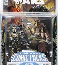 Star Wars Legacy Comic 2-Pack Clone Commander Faie Jedi General Quinlan Vos MOC