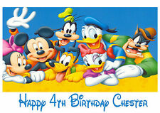 Personalised Birthday Card - Mickey Mouse and Friends Birthday Card