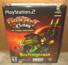 RATCHET & AND CLANK: UP YOUR ARSENAL ORIGINAL BLACK LABEL PS2 NEW SEALED