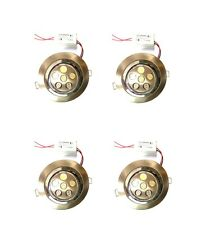 LED Light - 6 watts - Concealed Light for False ceiling POP - WHITE - 4Pc