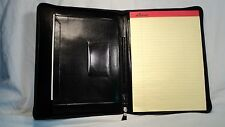 ILI 1911 Black Leather Zippered Letter Sized Writing Pad