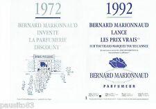 PUBLICITE ADVERTISING 126  1992  Boutiques Bernard Marionnaud (2p)  parfumeur