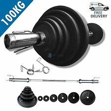BodyRip CLASSIC OLYMPIC WEIGHT SET 100KG INCLUDING 6FT BARBELL COLLARS & WEIGHTS
