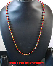 Indian goldplated chain Necklace Fashion jewelry  with ruby colour stones  x19
