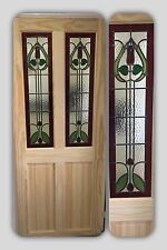 ( Brand New ) Stained Glass Internal Door (Clear Pine)