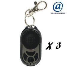 Lot de 3 télécommandes PB-433RII (4 fonctions) pour alarme sans fil Atlantic'S