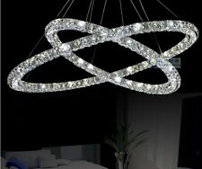 Modern LED K9 Crystal Pendant Lamp Diamond Ceiling Lighting Chandeliers 30+20cm