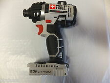 PORTER CABLE 20V MAX PCC640 LITHIUM ION 1/4 INCH HEX IMPACT DRIVER W/BIT