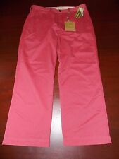 mens haggar life khaki pants 34x30 nwt $65 berry red
