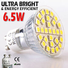 Lot de 12 jour blanc GU10 led smd 5050 6.5W spot ampoules high power cool lumineux