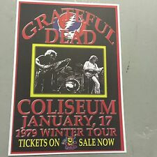 GRATEFUL DEAD - CONCERT POSTER WINTER TOUR 1979   (A3 SIZE)