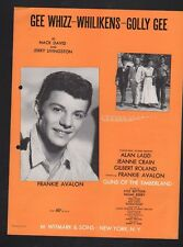 Gee Whizz Whilikens Golly Gee 1960 Frankie Avalon Guns of the Timberland