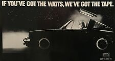 "MAXELL TAPE ORIGINAL VINTAGE 1980'S ADVERTISING POSTER 24"" X 43 3/4"" ROLLED MINT"