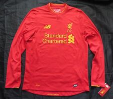 NEW! 2016-2017 The Reds LIVERPOOL L/S long sleeve shirt NEW BALANCE adult SIZE S