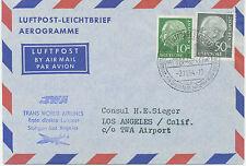 """2415 BRD 1954 Erstflug mit TWA (Trans World Airlines) """"STUTTGART – LOS ANGELES"""""""