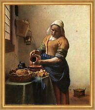 Die Magd Vermeer Stilleben Küche Brotzeit Vesper Backwerk Krug LW H A2 0282